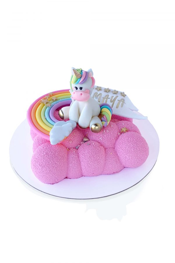 Tort Bubble Mangenta cu Unicorn