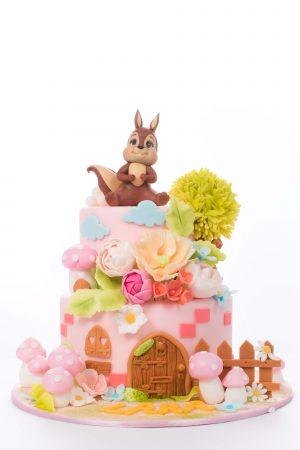 Tort Botez Casa Veveritei