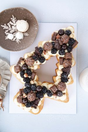 Tarta de craciun Brăduț cu ciocolată